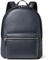 Dunhill Hampstead Leather Backpack - Navy
