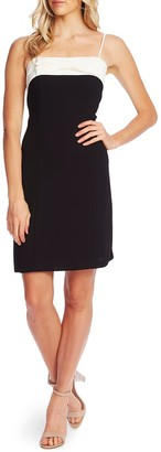 Cece By Cynthia Steffe Colorblock Bow Detail Dress