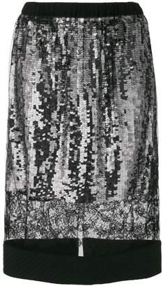 Vera Wang lace panel sequin skirt