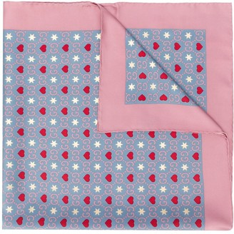 Gucci heart and star GG print scarf