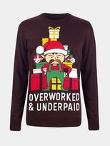 Burton Burton Overworked Elf Christmas Jumper