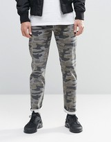 Asos Stretch Slim Jeans In Camo