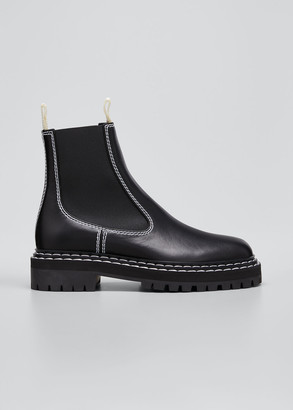 Proenza Schouler Gored Leather Moto Boots