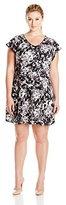 Ellen Tracy Women's Plus-Size Flutter Sleeve Knit Dress