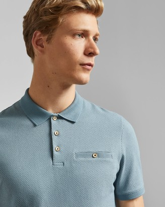 Ted Baker Textured Cotton Polo Shirt