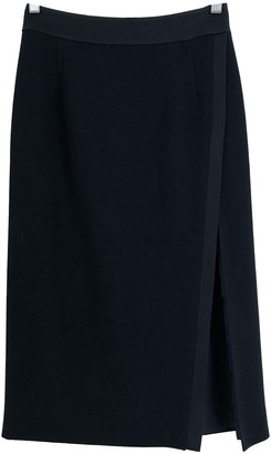 Pallas Black Wool Skirt for Women
