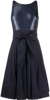 Lauren Ralph Lauren Yuko metallic-taffeta dress