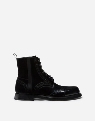 Dolce & Gabbana Brushed Calfskin Ankle Boots