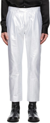 Ann Demeulemeester Silver Helm Trousers