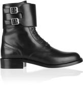 Saint Laurent Patti Leather Army Boots
