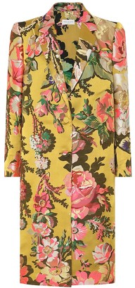 Dries Van Noten Floral jacquard coat