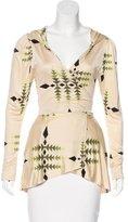 Mara Hoffman Silk Long Sleeve Top