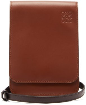 Loewe Gusset Flat Leather Cross-body Bag - Tan