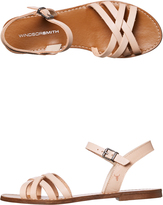 Windsor Smith Womens Bente Leather Sandal White