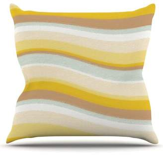 Nika East Urban Home Desert Waves by Martinez Outdoor Throw Pillow East Urban Home