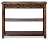 Mudhut Makshah Console Table Global Wood Cutout