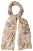 Adrienne Landau Embroidered Silk Scarf w/ Tags