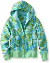 L.L. Bean Girls Fleece-Lined Camp Sweatshirt Hoodie, Print