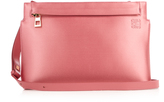 Loewe Satin and leather pouch