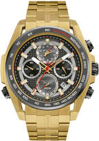 Zales Men's Bulova Precisionist Chronograph Gold-Tone Watch with Grey Dial (Model: 98B271)
