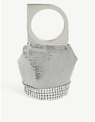 Paco Rabanne Op Art metal mesh top-handle bag