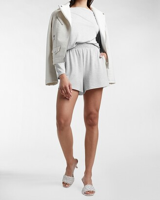 Express Super High Waisted Silky Sueded Jersey Shorts
