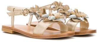 Bonpoint Floral-Embellished Sandals