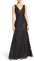 Vera Wang Women's Cutout Back Embroidered Gown