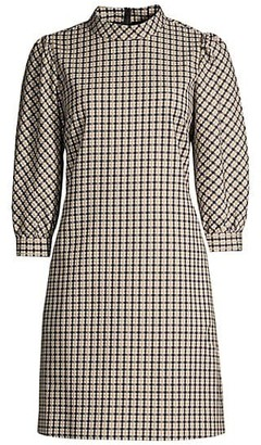 Elie Tahari Emilia Check Printed Dress