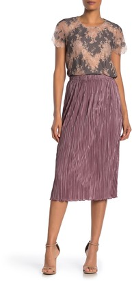 Everleigh Plisse Solid Midi Skirt (Regular & Petite)