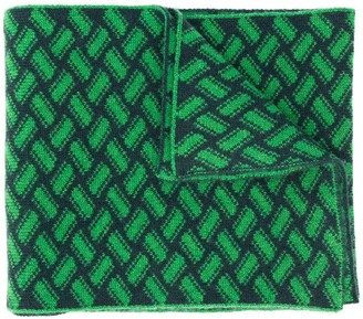 Drumohr Razor Blade knitted scarf