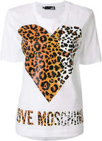 Love Moschino heart print logo T-shirt