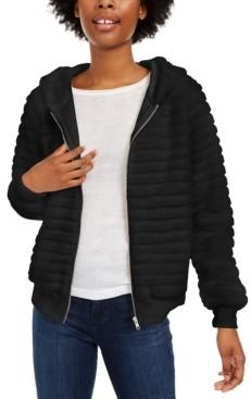 Almost Famous Juniors' Faux-Fur Hoodie Jacket