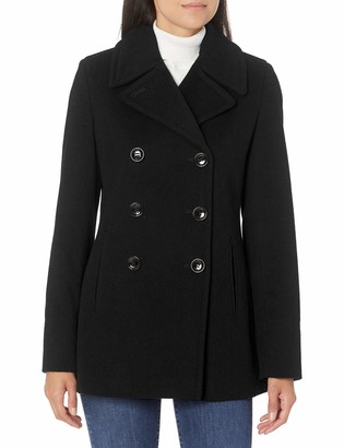 Calvin Klein Women's Double Breasted Peacoat (Petite Standard Plus)