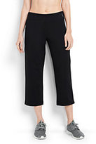 Lands' End Women's Petite Active Crop Pants-Iron Heather