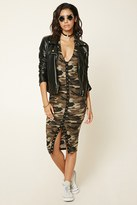 Forever 21 FOREVER 21+ Hooded Camo Bodycon Dress