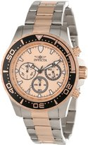 Invicta Men's 12917 Pro Diver Chronograph Rose Gold Tone Textured Dial Two Tone Stainless Steel Watch