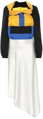 Maison Margiela Hybrid silk dress