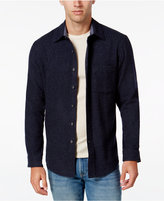 Club Room Men's Big and Tall Wool Long-Sleeve Heather Over Shirt, Only at Macy's