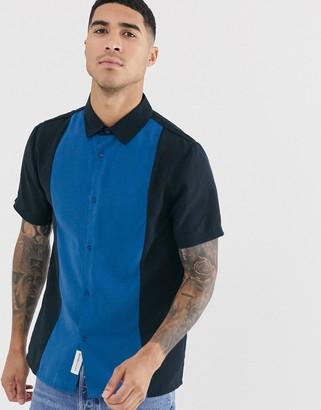 NATIVE YOUTH color block short sleeve shirt