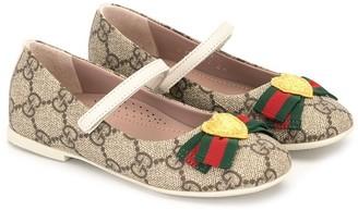 Gucci Kids GG Supreme ballerina shoes