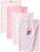 Carter's Watch the Wear Baby-Girls Newborn 4 Pk Receiving Blankets Girls