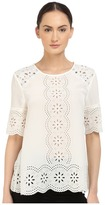 Kate Spade Embroidered Daisy Swing Top Women's Clothing