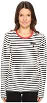 Sonia Rykiel Striped Cotton Modal Jersey Top