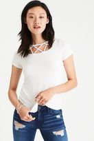 American Eagle Outfitters AE Soft & Sexy Cage-Neck T-Shirt