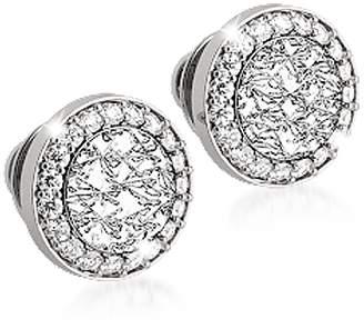 Rebecca R-ZERO Rhodium Over Bronze Stud Earrings