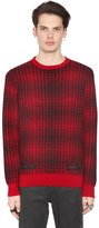 Off-White Geelong Lambs Wool Plaid Sweater