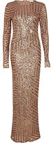 River Island Womens Bronze embellished long sleeve maxi dress