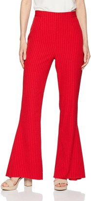 C/Meo Women's Go from Here High Waisted Flare Pinstripe Pants