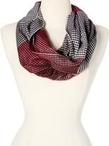 Black & Red Houndstooth Infinity Scarf